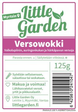 Versowokki, 125 g, Valkolupiinin, auringonkukan ja härkäpavun versoja