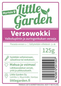 Versowokki – Valkolupiinin ja auringonkukan versoja, 125 g